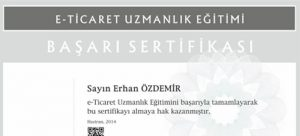 e-Ticaret Sertifikası