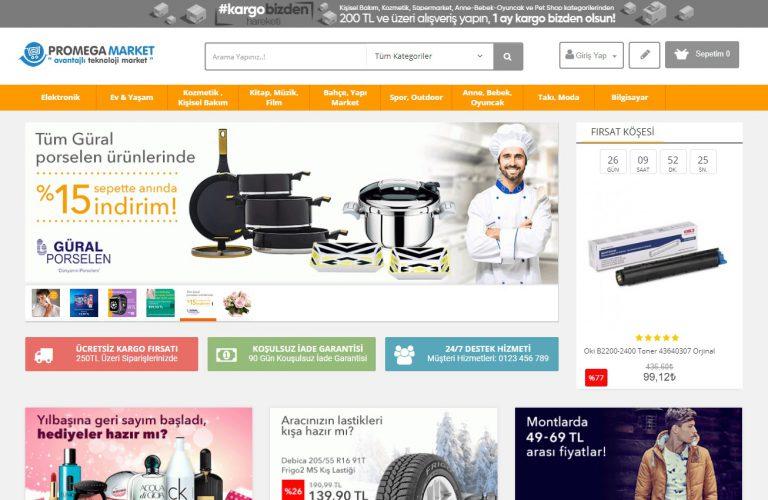 E-ticaret sitesi paketleri promegaweb izmir web sitesi tasarımı