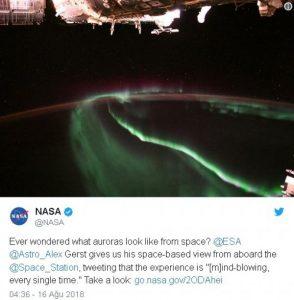 NASA Kuzey Işıklarını uzaydan görüntüledi promegaweb izmir web tasarım