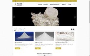 izmir web tasarım izmir web hosting ades maden kimya