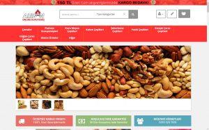 izmir web tasarım ve e-ticaret paketi arısan online kuruyemiş