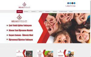 izmir web tasarım ve kurumsal barındırma bilset okulları