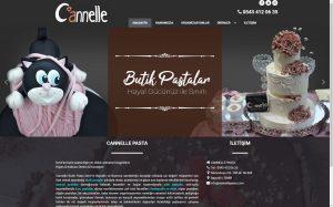 izmir web tasarım ve web hosting barındırma canelle pasta