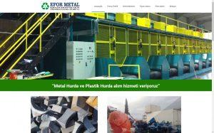 izmir kurumsal web tasarım efor metal hurda