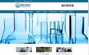 izmir yönetim panelli kurumsal web sitesi referansı ekin kimya laboratuvarı