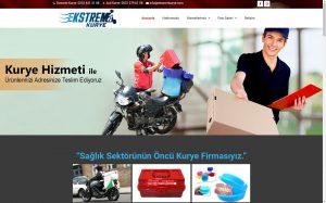 izmir yönetim panelli kurumsal web sitesi referansı ekstrem kurye