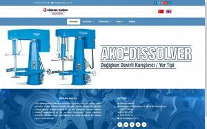izmir yönetim panelli web site tasarımı gökkaya makina
