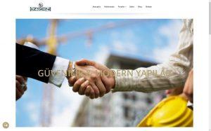 izmir web sitesi barındırma izşen inşaat