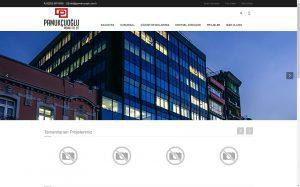 izmir web site tasarımı referans pamukçuoğlu inşaat
