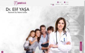 izmir yönetim panelli doktor web sitesi randevu sistemi phd klinik