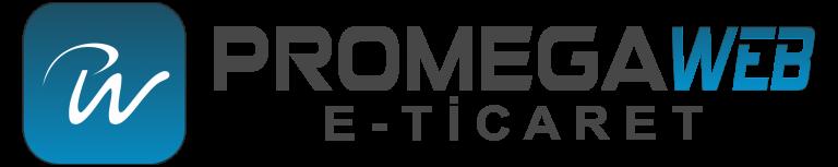 promegaweb e-ticaret logo siyah ikonlu