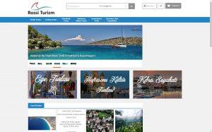 izmir kurumsal web sitesi ve e-ticaret sitesi rossi turizm