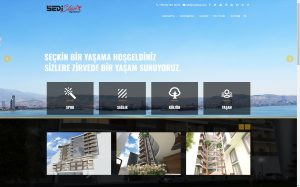 izmir yönetim panelli mobil web sitesi sedistar