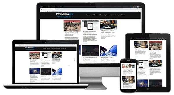 Mobil uyumlu web sitesi bilgisayar taşınabilir notebook tablet bilgisayar akıllı telefon cihazları destekler